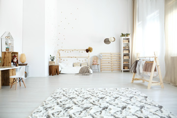 Spacious multifunctional girl's room
