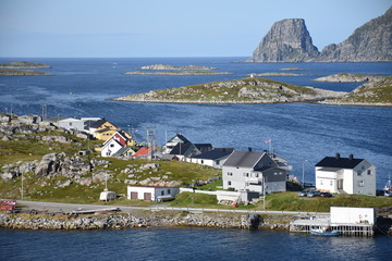 Norwegen, Norge, Nordkapp, Magerøya, Gjeasvær, Honningsvåg, Dorf, Insel, Hafen, Tundra, Straße, Gasse, Boot, Kai, Steg, Rorbu, Fischerdorf