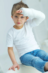 Child with an injury
