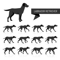 Labrador Retriever vector silhouettes