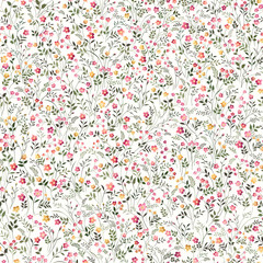 seamless floral pattern with meadow flowers