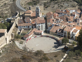 Bullring of Morella (Castellon), in the region of Maestrazgo, Spain