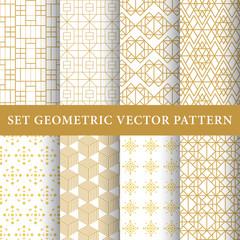 Golden vintage luxury vector patterns pack