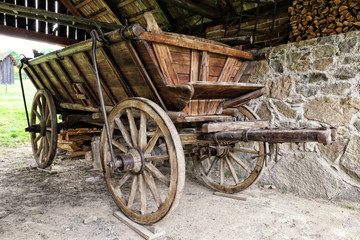 Old historic cart-ladder wagon
