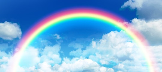 Composite image of composite image of rainbow