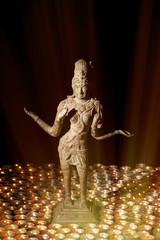 Diwali Festival of Light. Hindu goddess Lakshmi in divine candle light.