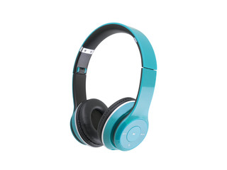 Blue headphones isolated on a white background