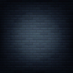 Brick wall with light source background isolated pattern. Vector illustration