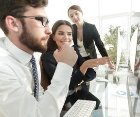 closeup. business team discussing