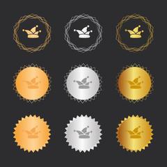Mütze - Karneval - Bronze, Silber, Gold Medaillen
