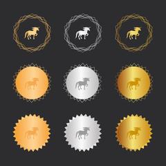 Einhorn - Bronze, Silber, Gold Medaillen