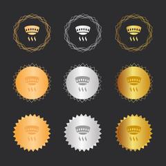 Rauchmelder - Bronze, Silber, Gold Medaillen