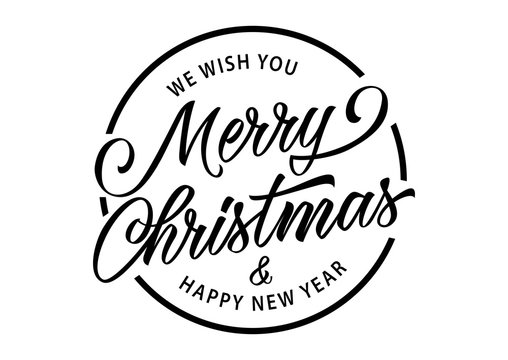 Merry Christmas Inscription in Circle
