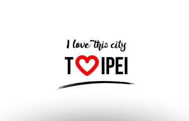 new taipei name love heart visit tourism logo icon design