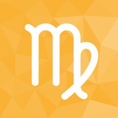 Sternzeichen - Jungfrau - Icon mit geometrischem Hintergrund gelb