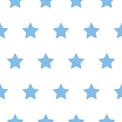 baby star pattern blue on white