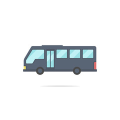 Bus flat design vector