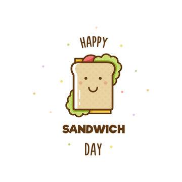 Happy Sandwich Day. Vector illustration.