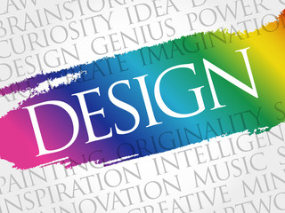 DESIGN word cloud collage, creative concept background