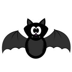 Isolated halloween bat on a white background, Vector illustration