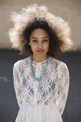 Beautiful afro woman portrait