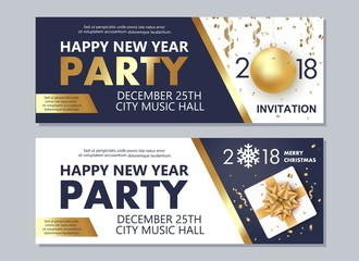 Happy New Year 2018 and Merry Christmas flyer