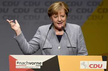 German Chancellor Angela Merkel campaigns for regional election in Lower Saxony
