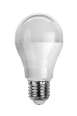 LED light bulb isolated on white with clipping paths