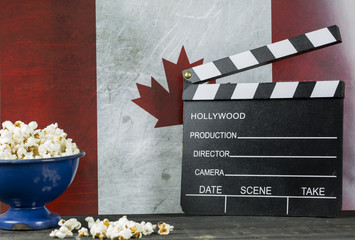 Canada Cinema Concept and Pop corns