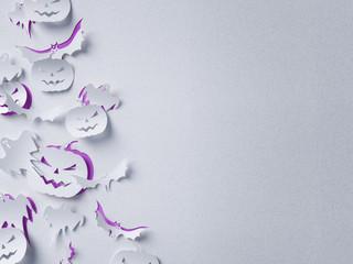 Halloween paper background ( children , party , pumpkin )