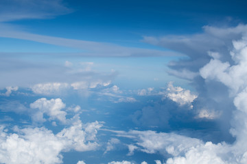 blue sky scatter spread cloud background