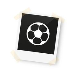 eingeklebtes Foto - Fußball