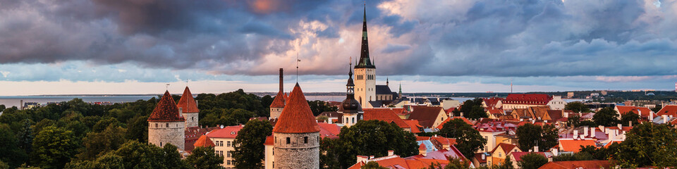 Aerial view of Tallinn, Estonia