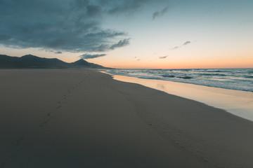Sunset at Cofete Beach - Fuerteventura