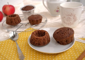 Chocolate muffins for tea