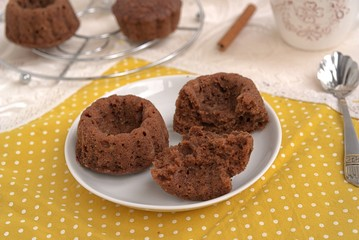 Delicate chocolate muffins