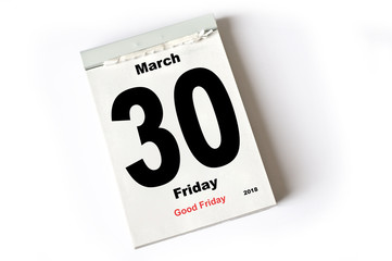 30. March 2018  Good Friday