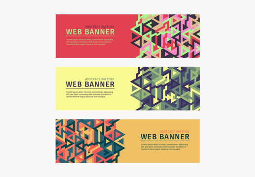 Colorful Abstract Pattern Web Banners 3