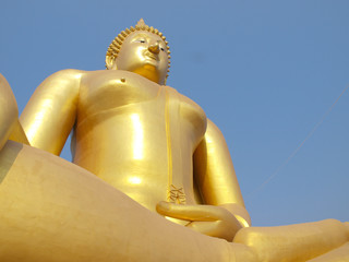 The big Buddha in the central of Thailand