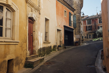 Street scene in the small town of Goult, Southern France
