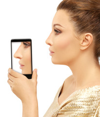 Rhinoplasty.Showing photos before and after rhinoplasty