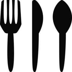 Cutlery - Silverware Icon Symbol