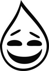 Liquid Sarcasm - Laughing Water Drop Smile