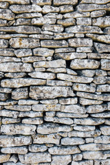 Detail of medieval stone wall, Provence, France