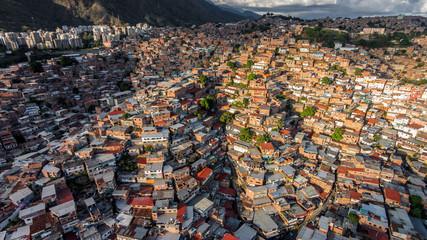 Favelas of Petare neighborhood. Caracas, Venezuela.