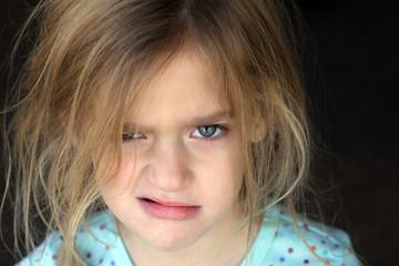 Grumpy Girl Making Grumpy Face