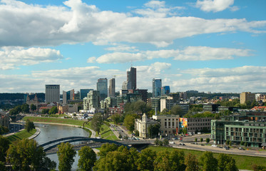 View of Vilnius buisness district