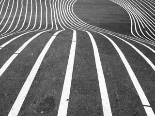Pedestrian crossing stripes