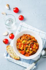 Eggplant potato Bell pepper goulash