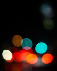 Rainy light and bright lights